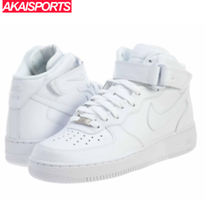 NEW NIKE AIR FORCE 1 MID MENS 07 WHITE BASKETBALL CASUAL