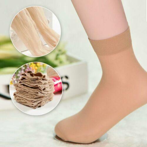 10 x Pairs Ladies Sheer Ankle High Trouser Pop Socks ONE SIZE UK Seller 4-7