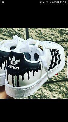 Chaussures Adidas Superstar avec Clous Noires et Goccialatura Noir Type Peinture | eBay