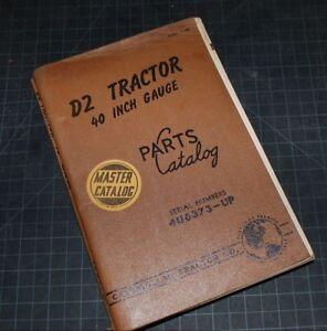 Caterpillar D2 Diesel Tractor Parts Catalog CD