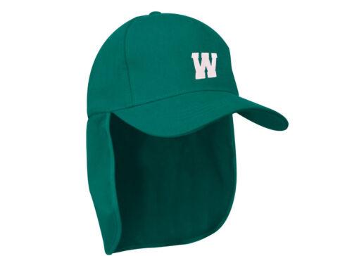 Junior legionnaire Baseball Cap Boy Girl Children Green Hat Protection A-Z