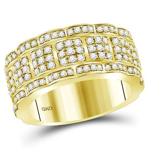 14 kt Yellow gold  1 7 8 CT-DIA MEN RING