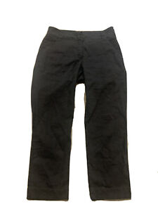 Eileen Fisher Sz PP Petite Linen Pants Gray Crop Lightweight Casual