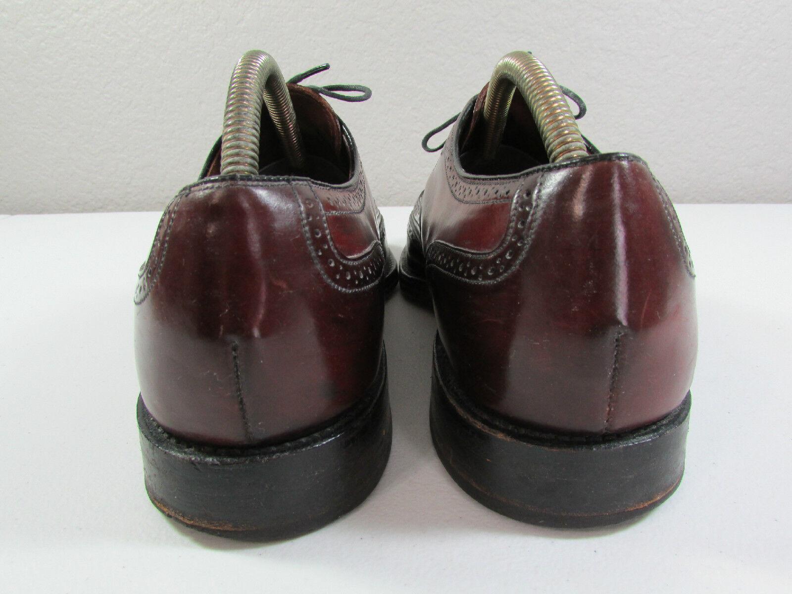 Vintage SHELL CORDOVAN Burgundy Pelle Sole Burgundy CORDOVAN Brogue Oxford WINGTIPS Size 12 15da0e