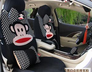 19pcs New Universal Four Season Cartoon Monkey Car Seat Cover Car