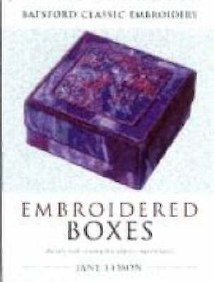 Embroidered Boxes (Batsford Classic Embroidery)-ExLibrary