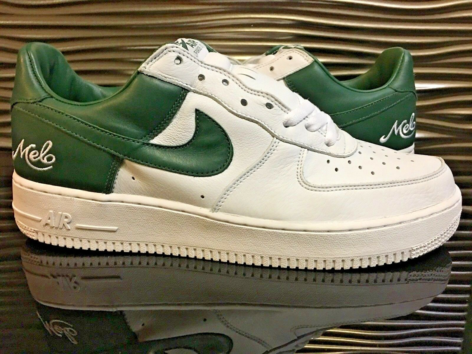 Nike Air Force 1 Sample Low Melo White Green Sample 1 DS Men's Size 11 Carmelo Anthony PE 4b7bc4