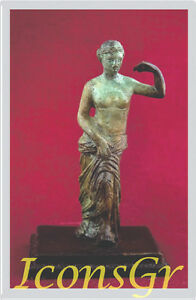 Ancient Greek Sculpture Museum Statue Bronze Aphrodite Venus Goddess Of Beauty