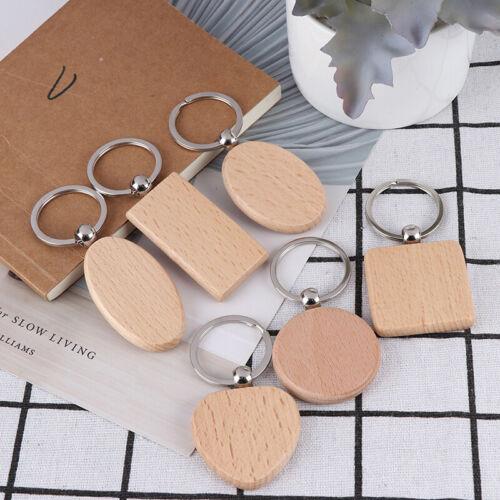 Keyfob keychain wood blank tag hanging pendant bag gadget decor SP