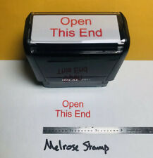 Open This End Self Inking Rubber Stamp Red Ink Ideal 4913