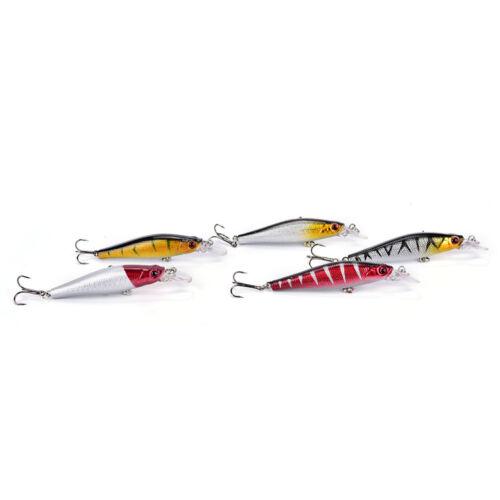 5x//Set Kunststoff Fischköder Floating Rattles Bass Wobbler 8.5 cm//8.9 g Gut WGUL