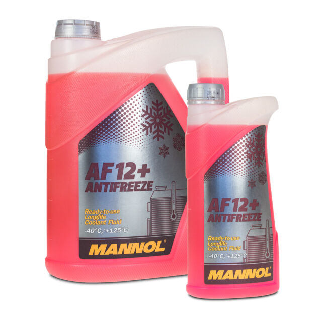 Antifreeze Red G12 5 Litre Mannol Anti-freeze Af12 40°c Coolant VW