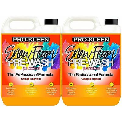 Pro-Kleen Snow Foam Car Wash Shampoo Cleaner pH Neutral Fast Delivery 10 liters