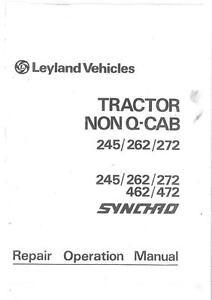 leyland tractor 245 262 272 462 472 workshop manual ebay rh ebay com Case IH Tractors 384 Leyland Turbo