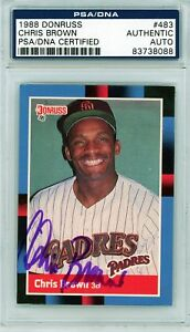 CHRIS BROWN SIGNED 1988 DONRUSS CARD #483 AUTO PSA/DNA ...