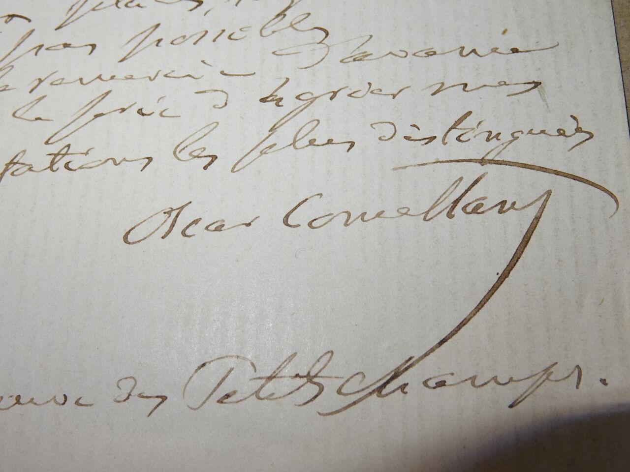 lettre usa Oscar COMETTANT LETTRE AUTOGRAPHE Compositeur MUSIQUE VOYAGE USA  lettre usa