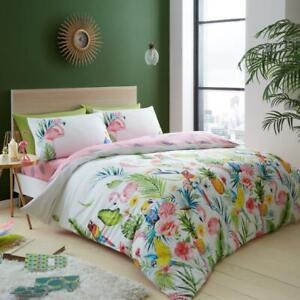 Edredon-Floral-Duvet-Leila-Blanco-Set-3-Piezas-Juego-Cubierta-Del-Edredon-Juego-de-cama-conjunto-de