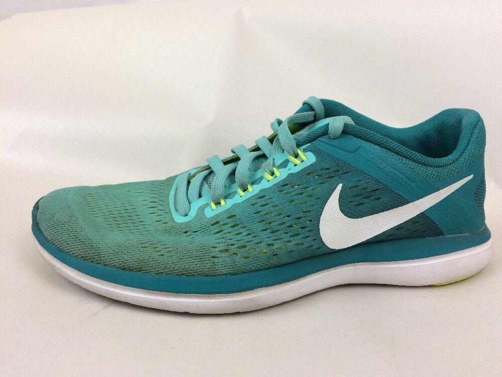 NIKE 830751-300 flex 2016 Run TEAL Green bluee Lightweight Sneaker Womens 7.5 Med