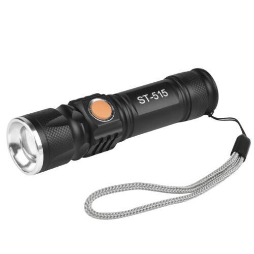 Mini  T6 USB LED Flashlight Torch 8000LM Adjustable Focus Zoom Light Lamp WT