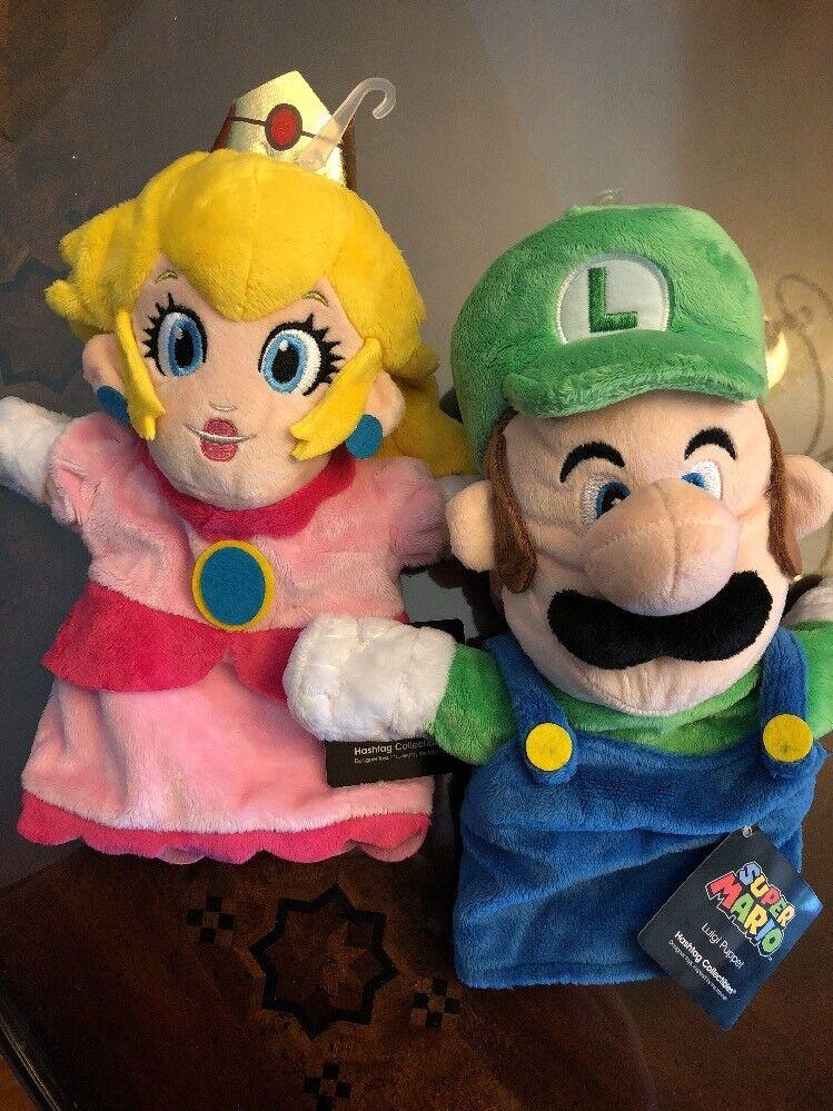 Super Mario Bros. Princess Peach And Luigi Hand Puppets Free Shipping