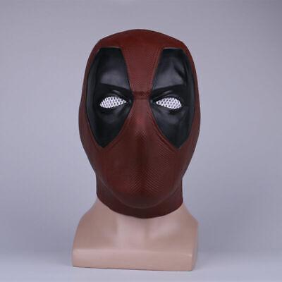 2018 Deadpool 2 Mask Halloween X-Men Full Face Latex Helmet Cosplay Party Props