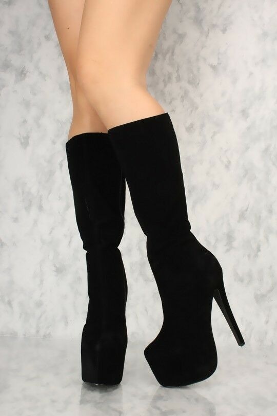 LOT BLACK CAMEL PEEP TOE TOE TOE CLEAR CHUNKY HEEL PERFORATED BOOTIES FAUX SUEDE LEATHER d6d0c3