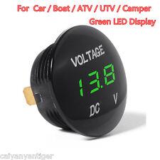 DC 12V -24V Car Boat Motorcycle Voltage Meter Digital Display Green LED Display