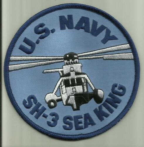 """U.S.NAVY SH-3 SEA KING HELICOPTER PATCH 4/"""" SAILOR PILOT HELO AIRCRAFT USMC ARMY"""