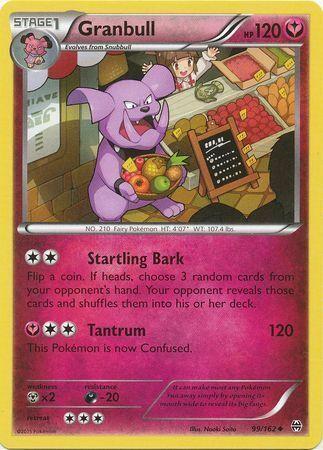 2015 Granbull 99//162 BREAKthrough Set Uncommon Pokemon Card - NM