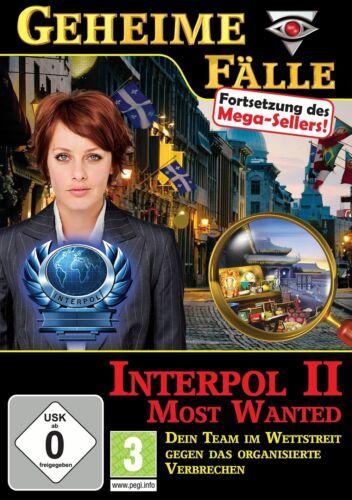 1 von 1 - Geheime Fälle Interpol 2 Most Wanted für Pc Neu Ovp