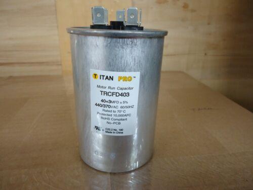 Packard TRCFD403 40 440//370V Round Motor Run Capacitor HVAC Titan Pro 3 MFD
