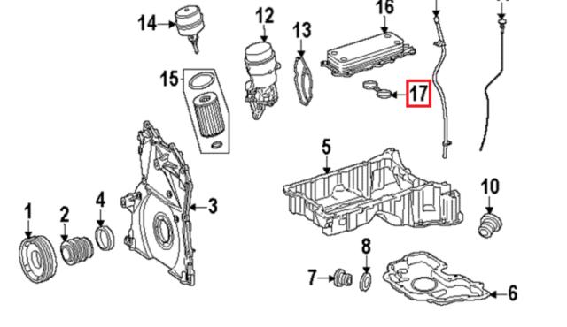 Mercedes-Benz 2x Joint Refroiddiseur D/'Huile OM642 Refroidisseur // 059 Orig