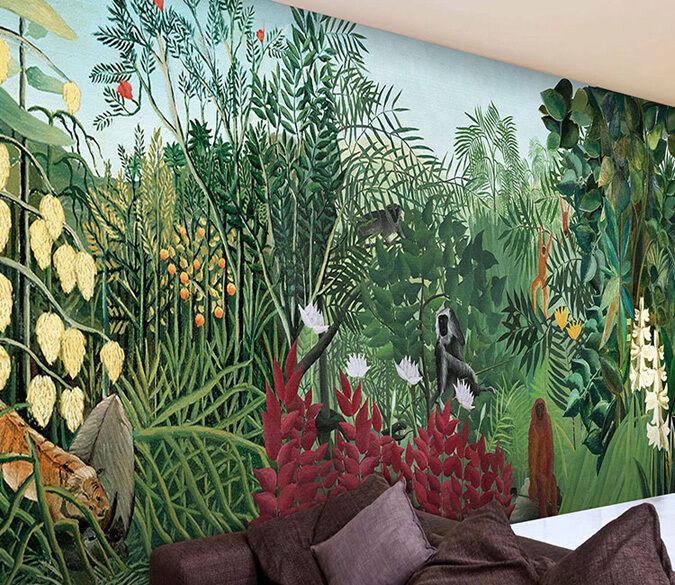 3D Dichte Vegetation Fototapeten Wandbild Fototapete Bild Tapete Familie Kinder