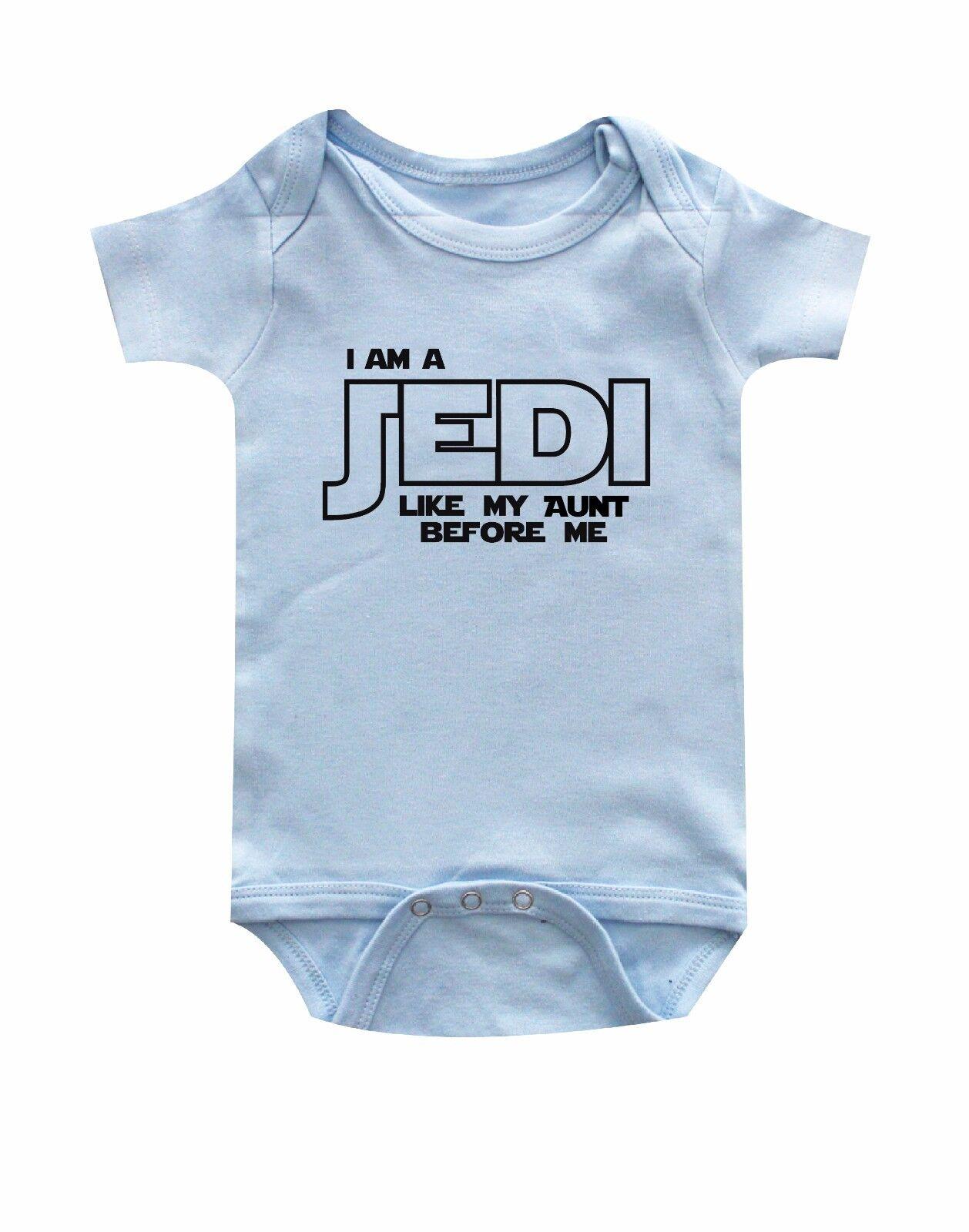 Star Wars I am Jedi like my Aunt baby one piece Jedi like my aunt