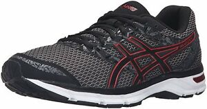 6a4327713 ASICS MEN GEL-EXCITE 4 T6E3N 9023 BLACK TRUE RED CARBON RUNNING ...