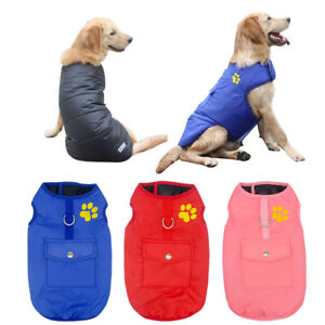 Hundebekleidung-Hundemantel-Hundejacke-Winterbekleidung-Rosa-Blau-Rot-XS-3XL