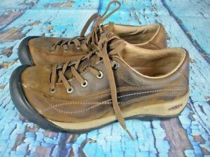 Keen-Brown-Leather-Lace-Up-Casual-Comfort-Walking-Shoes-Women-039-s-Size-7