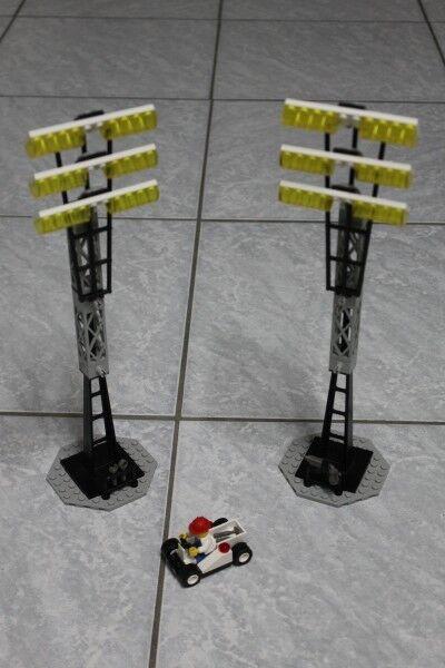 LEGO System City Shell 3313 Soccer Fussball Stadion Flutlichtmasten 1998