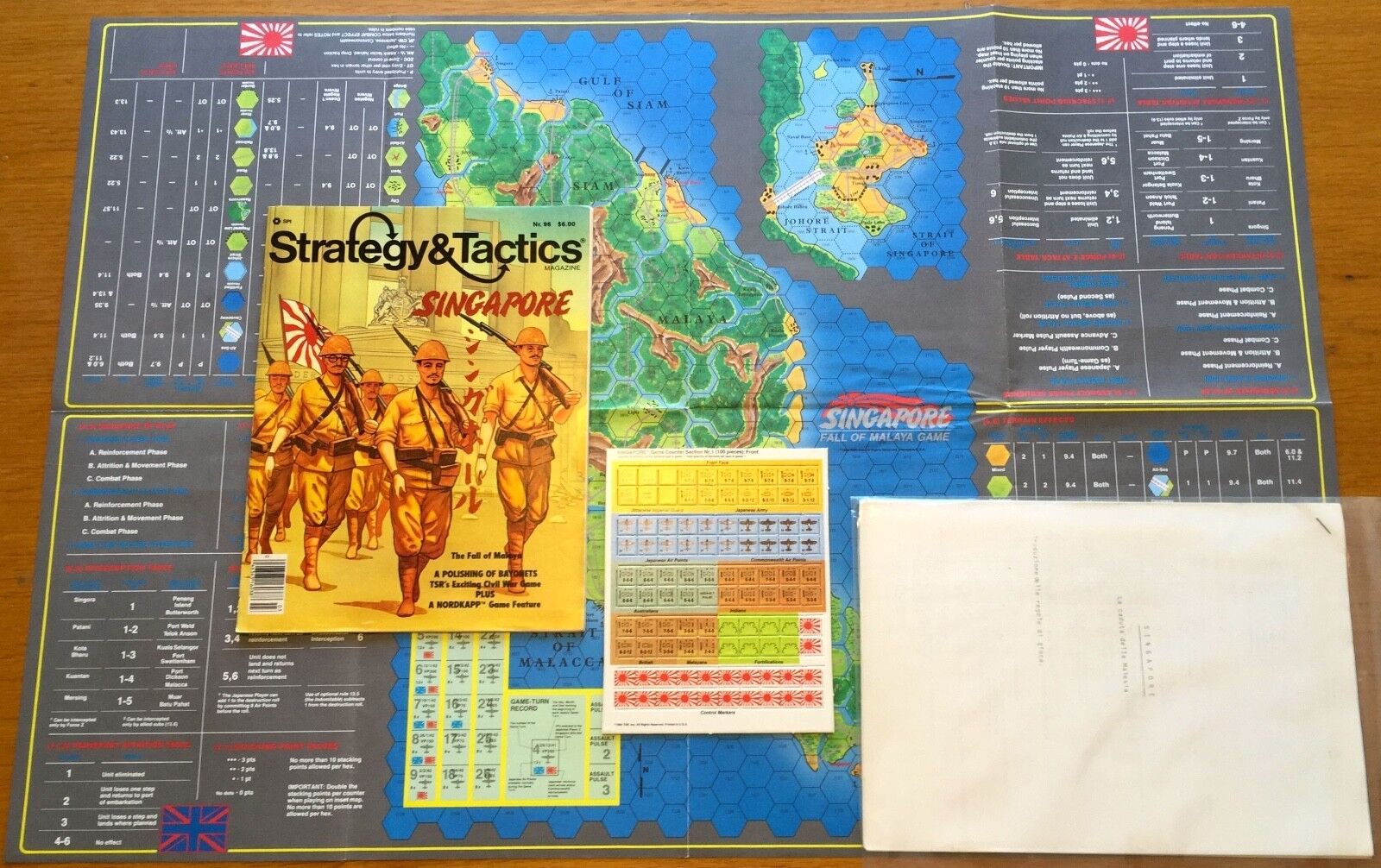 Strategy & Tactics 96 - Singapore - SPI TSR 1984 - UNPUNCHED