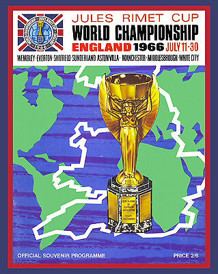 """8/""""x10/"""" Color Photo 1966 England World Cup Poster"""