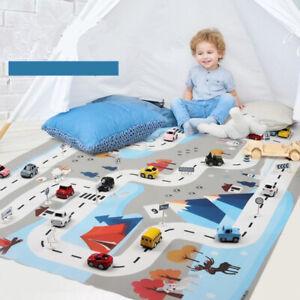 UK Kids City Road Play Mat Childrens Car Road Carpet Rug Toy Playmat Waterproof