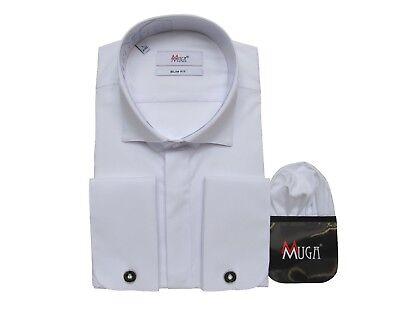 Fornitura Camicia Gala Con Gemelli Taglia L Bianco-pfe Slim Fit Gr.l Weiß 41/42 It-it Mostra Il Titolo Originale