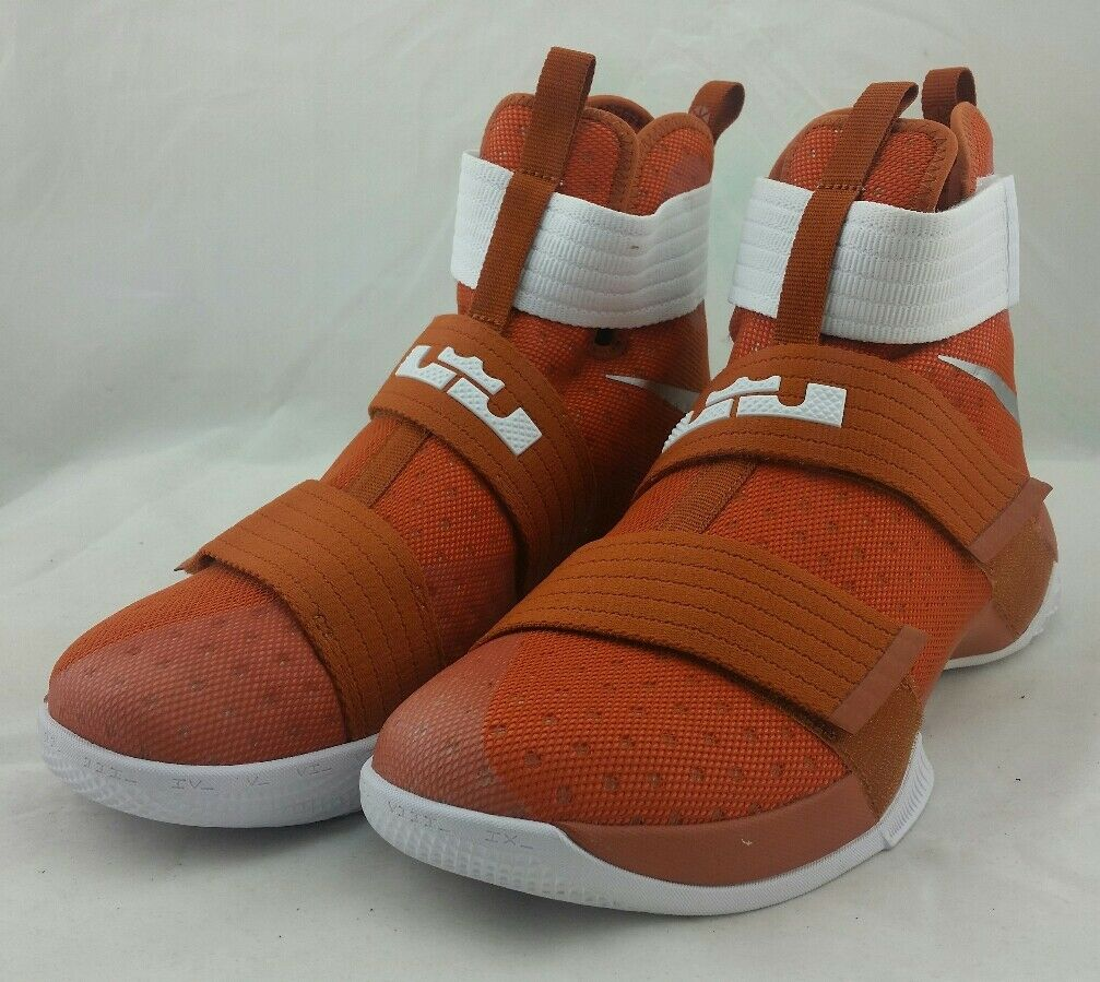 Seasonal clearance sale Nike LeBron Soldier X 10 Burnt Orange University of Texas 856489-882 Price reduction