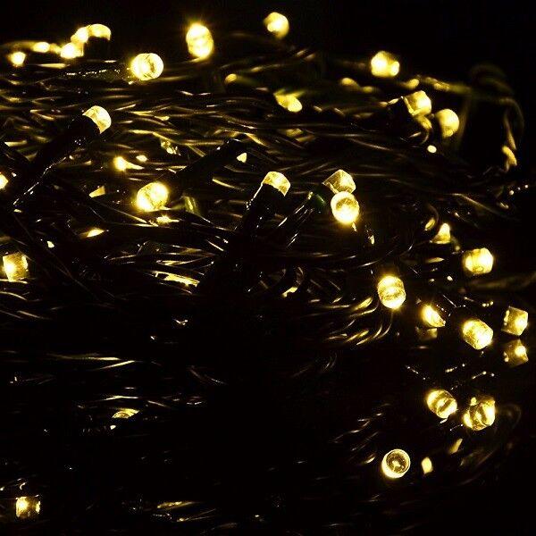 LED Timer Lichterkette 400er warmweiß   grün grün grün 40m außen BA11256 xmas   Nutzen Sie Materialien voll aus  5dc01d