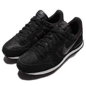 Wmns  Nike Internationalist Black Grey Womens Running Shoes Sneakers 828407-003