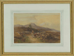 Framed-Late-19th-Century-Watercolour-The-Rural-Path
