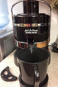 Details about Jack LaLanne's 600 RPM Motor Power Juicer Black & Stainless Steel CL 003AP