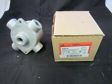 """CROUSE HINDS EABY16 EXPLOSION PROOF X FITTING FIVE 1/2"""" HUBS WITH MOUNTING FEET"""