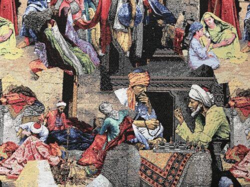 "Deco Furniture Fabric /""Arabic Oriental/"" Tapestry Cushion WALLPAPER CARPET THROW"