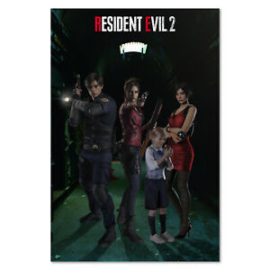 Resident Evil 2 Remake Poster Exclusive Characters Design High Quality Prints Ebay